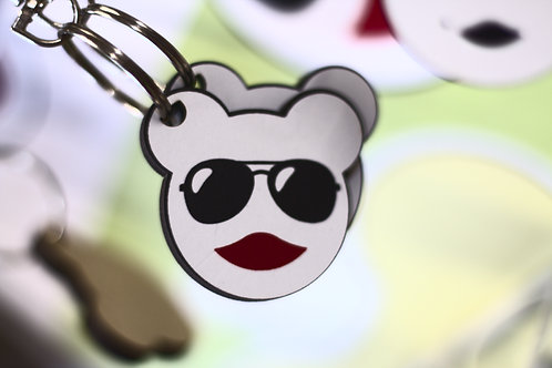Cool Bear Keychain