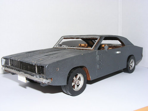 Ford Mustang Wooden Model