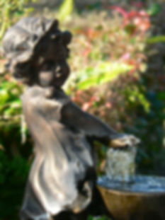 Hope Family Funeral Services water feature garden venue country funeral home