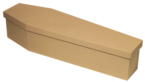 Hope Family Funeral Services Basic cardboard casket coffin hired cremation mdf