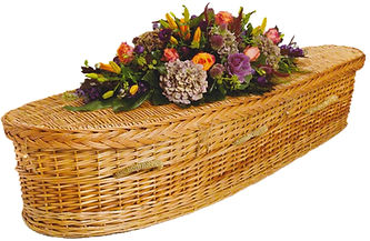 Hope Family Funeral Services woven wicker casket coffin tangi burial