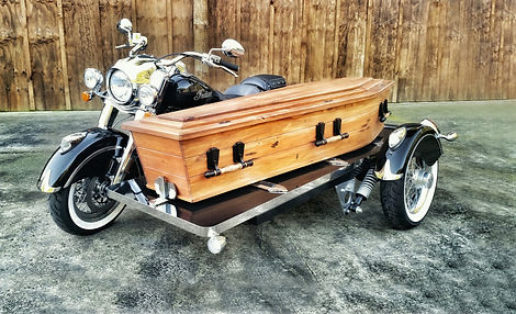 Hope Family Funeral Services New Zealand's Indian Chief Classic Motorcycle Hearse Burt Munro Fastest Indian