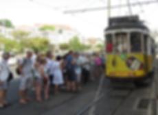 Tramway Lisbonne touriste