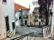 Place de l'alfama à Lisbonne