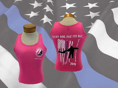 Space Coast Police K9 Competition Ladies Tank Top