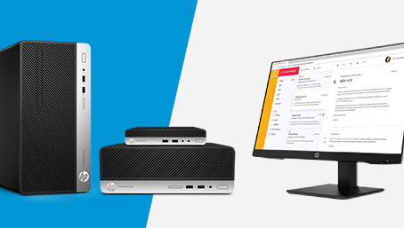 Kjøp en HP Desktop PC, få en skjerm på kjøpet!