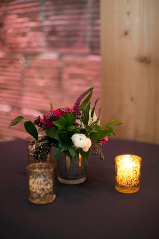 Small Mercury Glass Vases