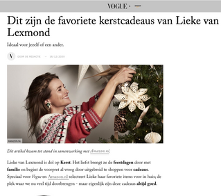 Amazon.nl introducing the Celebrity Storefront in the Netherlands