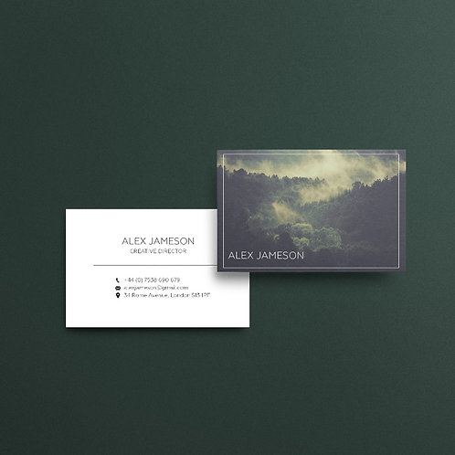 Green Forest Business Cards | High Quality Paper | Custom Design
