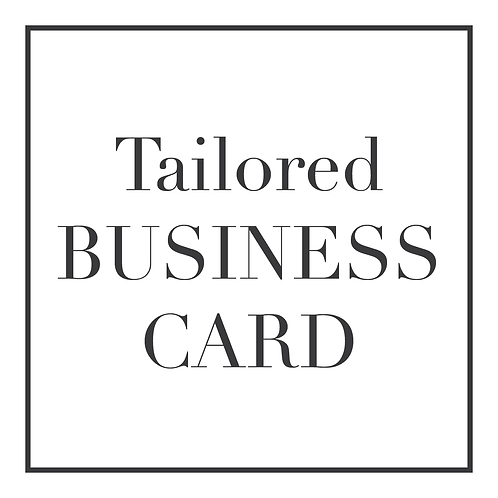 Tailored Business Card Design | Personalised Graphic Design