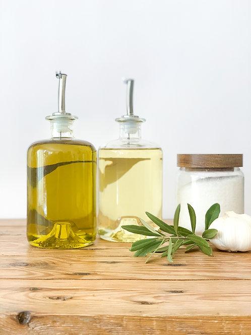 Glass Bottles Olive Oil/Vinegar Pourer Storage Bottle 200ml , 500ml and 700ml Re