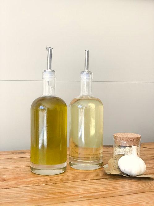 Glass Bottles Olive Oil/Vinegar Pourer Storage Bottle 500ml Reusable Organise Yo