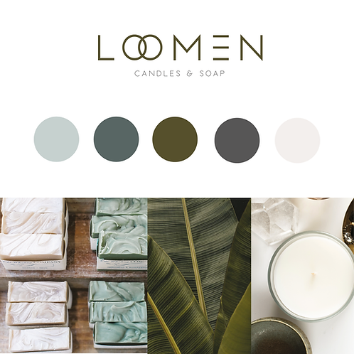 Premade Logo Brand Package exclusive minimalist logo design / soap & Candles