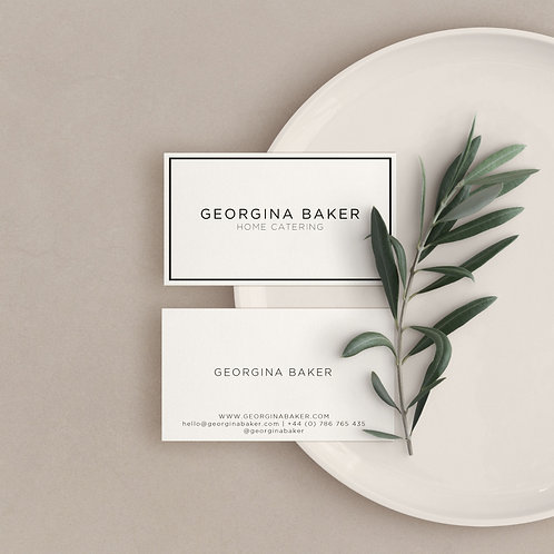 Personalised Minimal Business Cards
