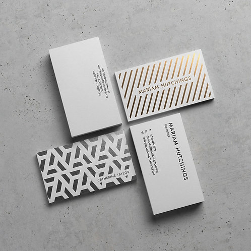 Foiled Business Cards Gold Silver Copper Rose Gold