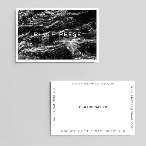 Dark Sea Minimalist Business Cards   High Quality Paper   Custom Design