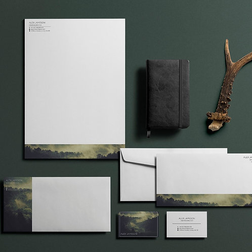 Printed Business Stationery Design Pack -  Forest Theme