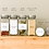 Thumbnail: Labelled Square Spice Jars with Shaker Inside Tops and Brushed Silver Lids