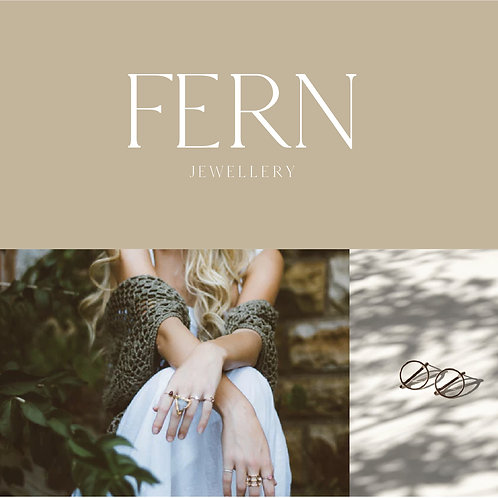 Premade Logo Brand Package exclusive minimalist logo design / jewellery branding