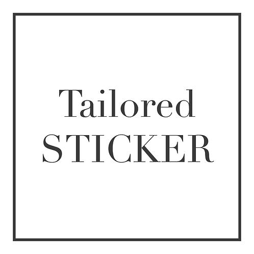 Tailored Sticker Design | Personalised Graphic Design