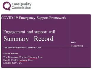 CQC COVID-19 Emergency Support Framework