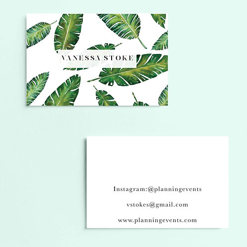 Palm Leaf Business Cards | High Quality Paper | Custom Design