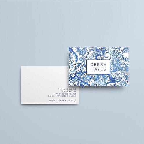 Portuguese Tile  Business Cards | High Quality Paper | Custom Design