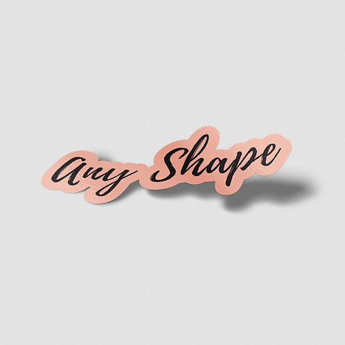 Any Shape Die Cut Vinyl Stickers - On Sheets