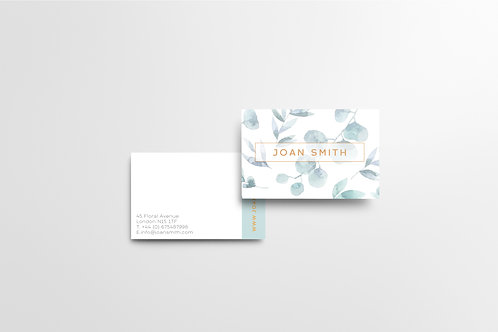 Greenery Minimalist Business Cards | High Quality Paper | Custom Design