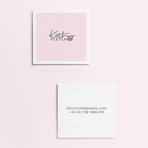 Minimalist Square Business Cards | High Quality Paper | Custom Design