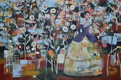 Air Song(48x60) oil on canvas 2018