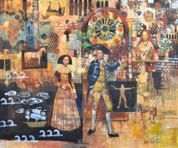 History Theater (60x72) oil on canvas 2021