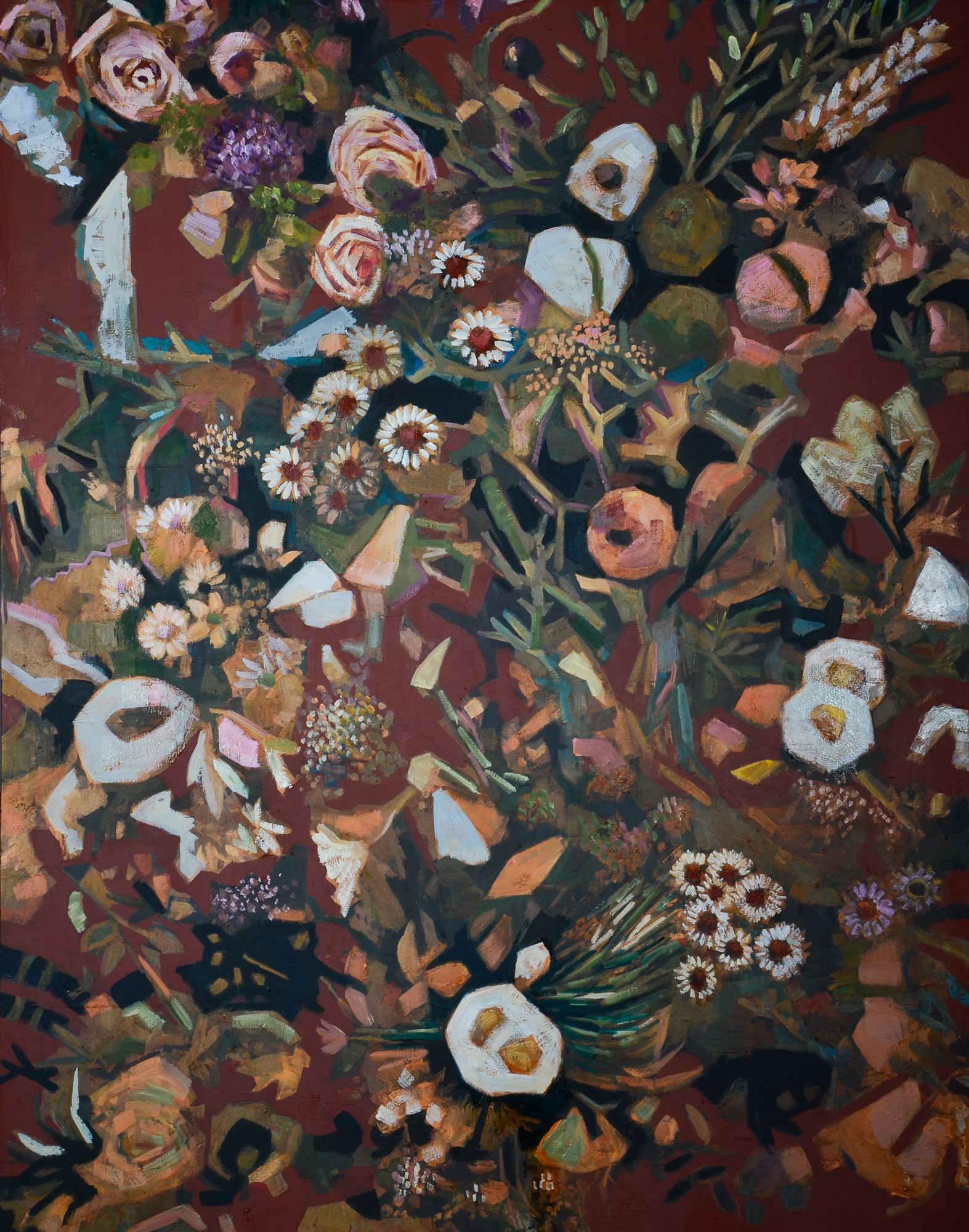 Smiling Flowers (60x48) oil on canvas 20
