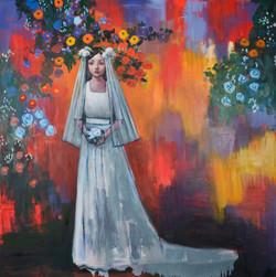 Multiple Mood(48x48)oil on canvas 2018
