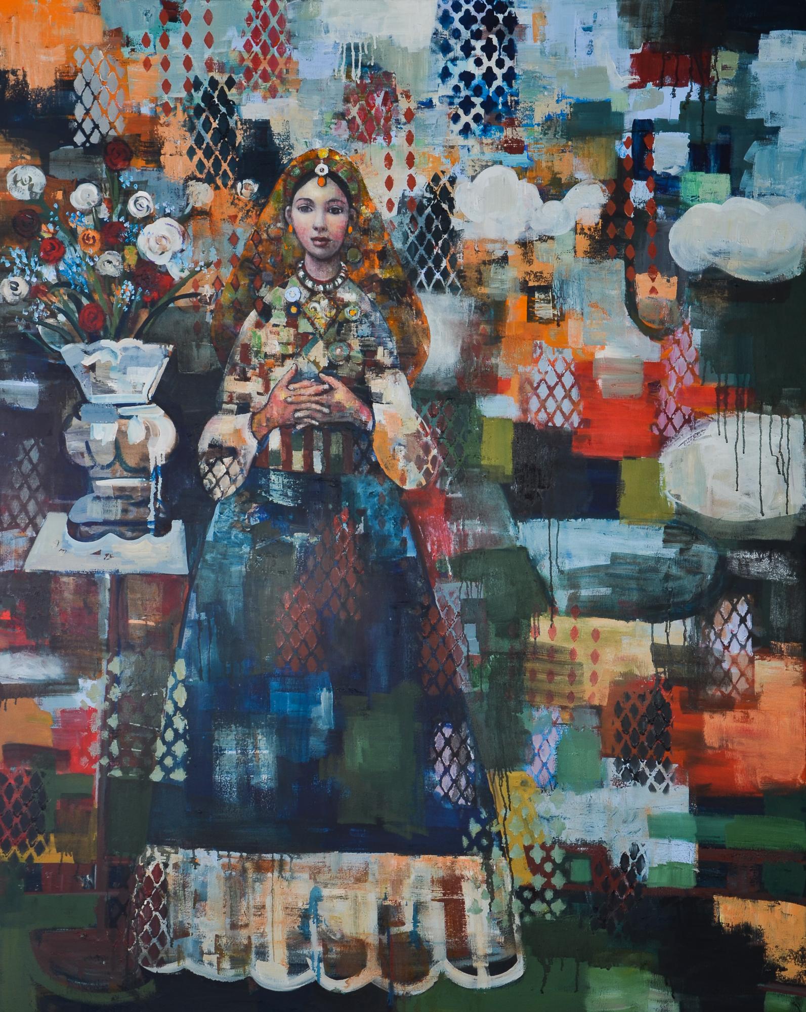 Tribal Dance (60x48) oil oncanvas 2019 .