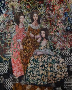 Sisters' Garden (60x48) oil on canvas 20