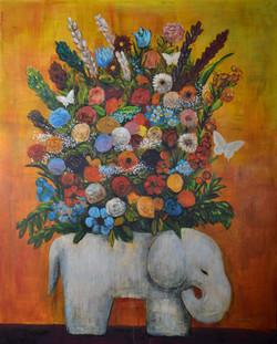 White Elephant (60x48) oil on canvas 2021