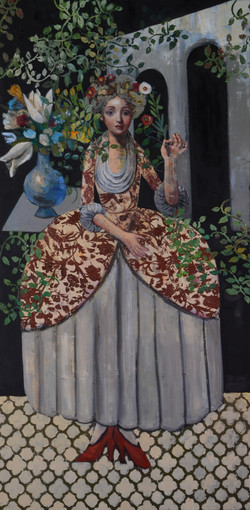 Happy Lady (60x48) oil on canvas