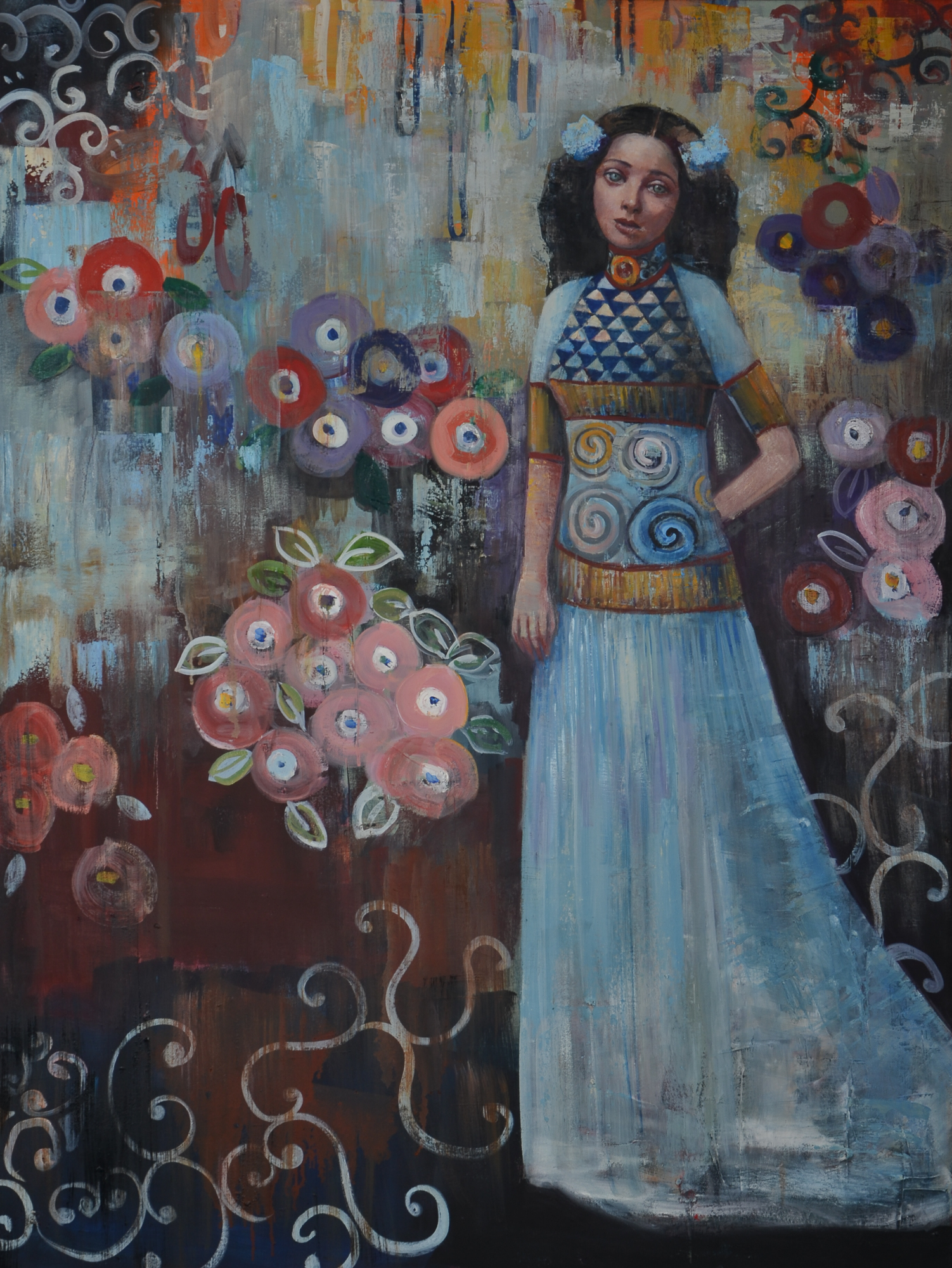 Azul(48x36)oil on canvas 2018