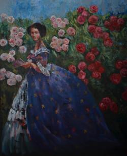 M's Garden (60x48) oil on canvas 2021