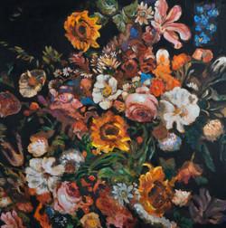 Flowers Wonder (30x30) oil on canvas 201
