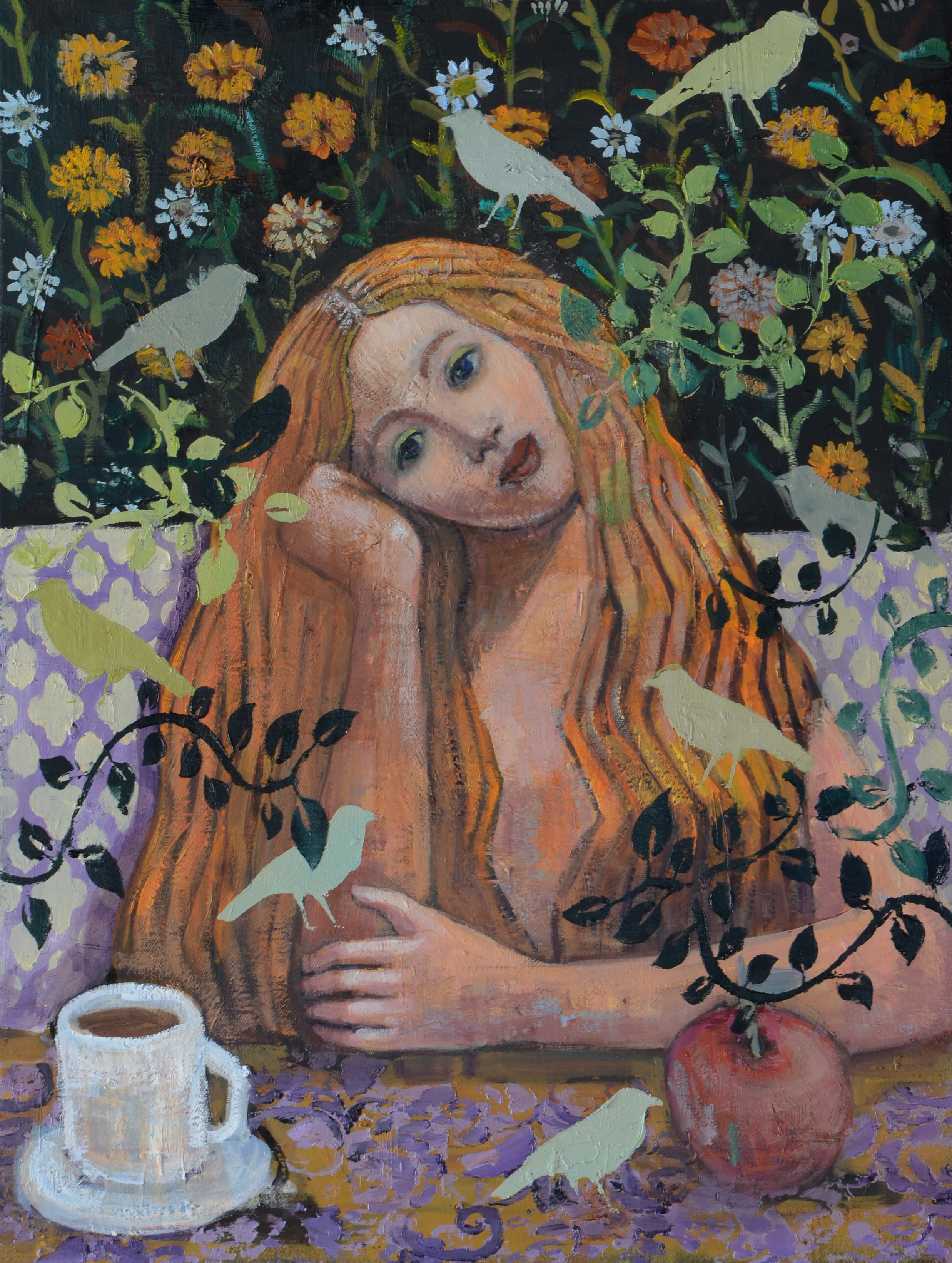 Venus At a Cafe (24x18) oil on canvas 20