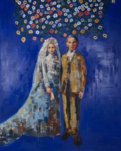 Cobalt Love (60x48) oil on canvas 2017