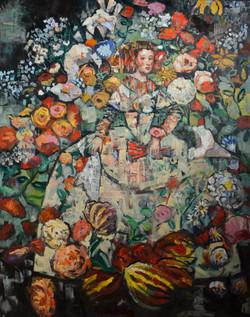 Princess' Dancing Garden (60x48) oil on