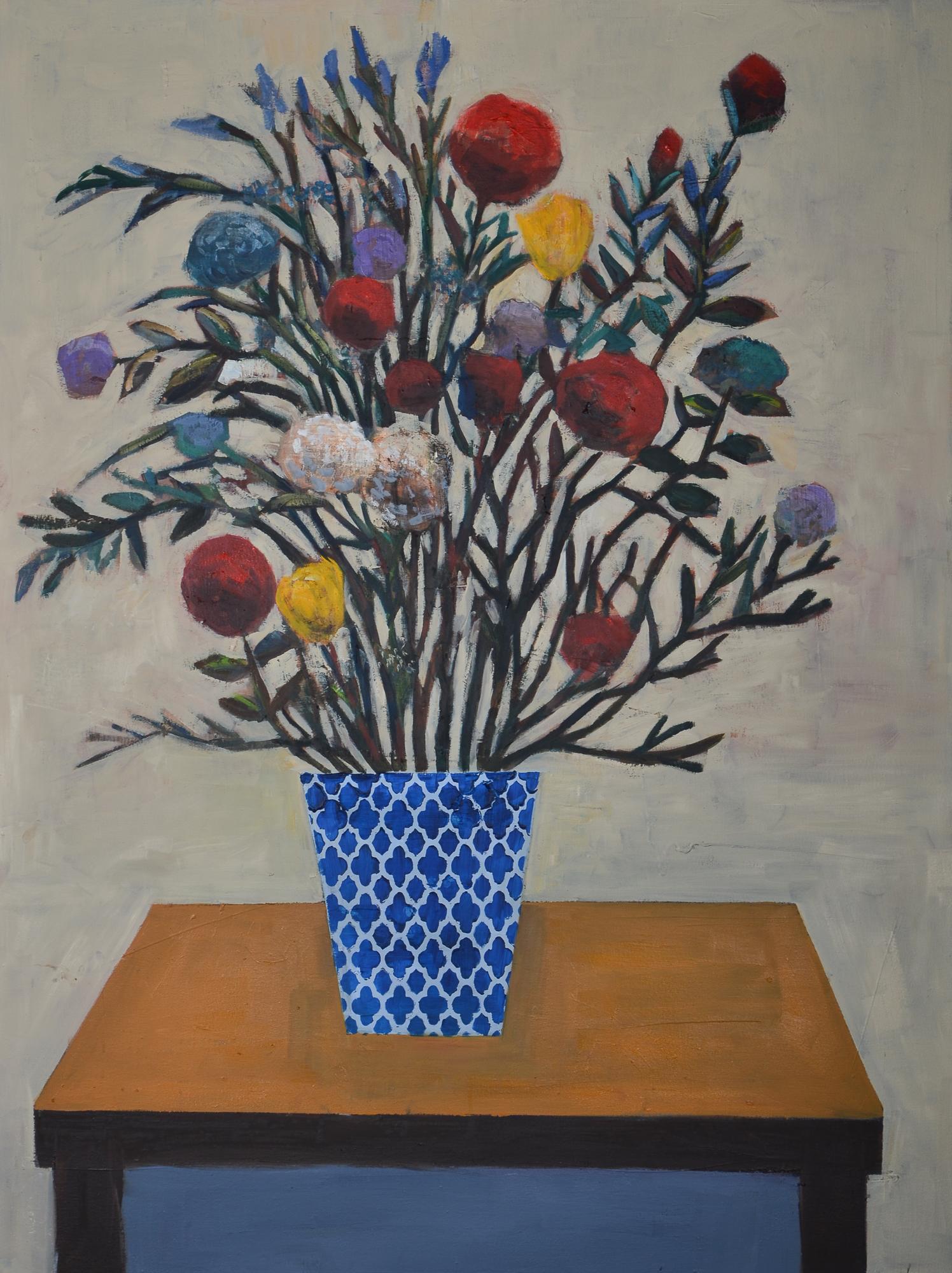 Flower Dance (48x36) oil on canvas 2019.