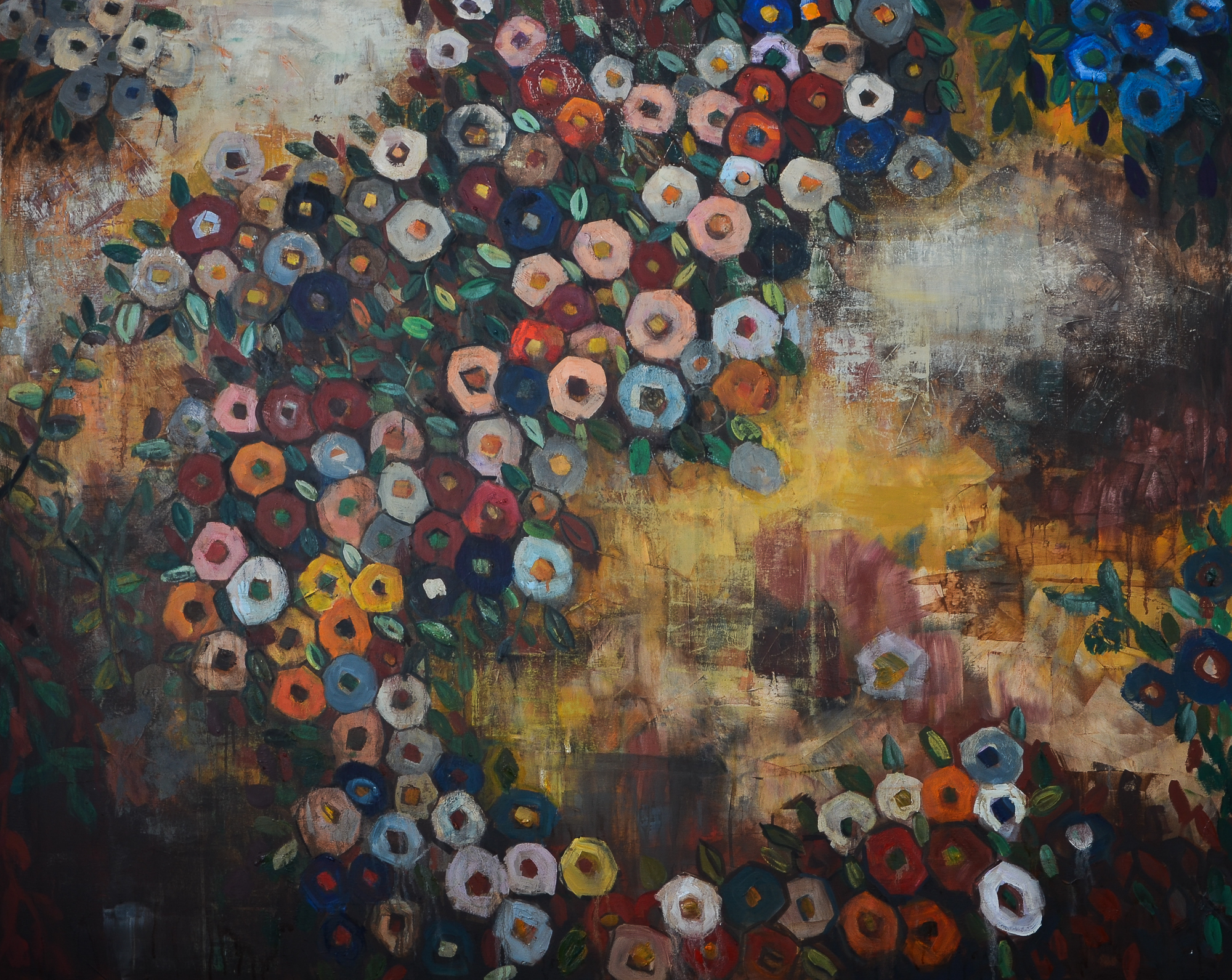 Fabric of Garden (48x60) oil on canvas 2