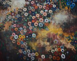 Fabric of Garden (48x60) oil on canvas 2