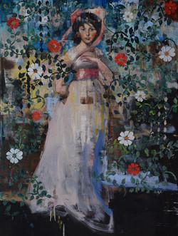 Pinkie 40x30) oil on canvas 2020