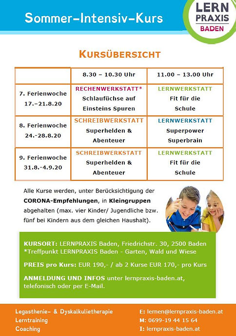 LERNPRAXIS Baden_Info_Sommerkurse 2020_R