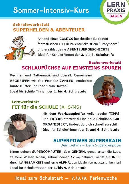 LERNPRAXIS Baden_Info_Sommerkurse 2020_V